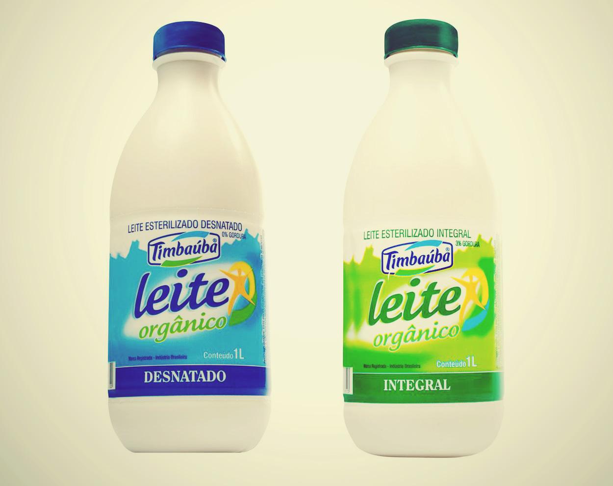 A fazenda oferece o leite orgânico na forma integral e na desnatada